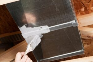 ductwork-being-professionally-sealed